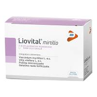 LIOVITAL Mirtillo Integratore 8 flaconcini da 10 ml